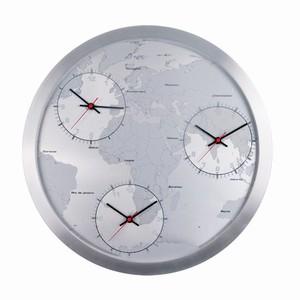 Billede af Vægur med verden og 3 tider