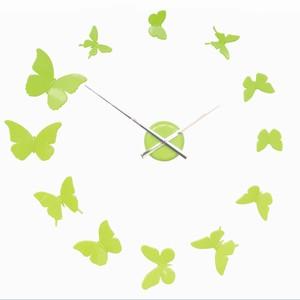 Billede af Vægur med sommerfugle