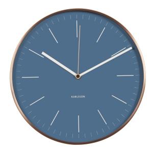 Billede af Wall clock Minimal - blå Karlsson vægur